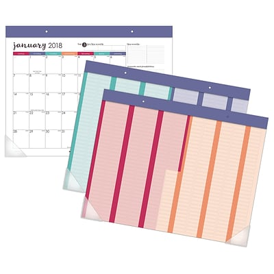 2018 AT-A-GLANCE® Harmony Monthly Desk Pad with Reusable Stickers, 12 Months, January Start, 22-1/16 x 17-1/8 (D6099-704-18)