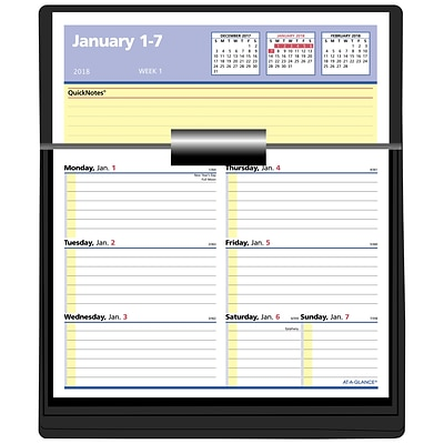 2018 At A Glance 174 Weekly Refill With Quicknotes Flip A