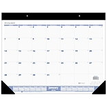 2018 AT-A-GLANCE® Monthly Desk Pad Calendar, January 2018 - December 2018, 22 x 17, Blue / Gray (S