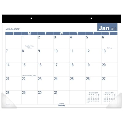 2018 AT-A-GLANCE® Monthly Desk Pad Calendar, Easy to Read, January 2018 - December 2018, 22 x 17 (SKLP24-32-18)