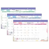 2018 AT-A-GLANCE® Watercolors Compact Desk Pad, 12 Months, January Start, 17-3/4 x 10-7/8 (SK91-70