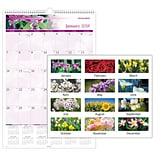 2018 AT-A-GLANCE® Monthly Wall Calendar, January 2018 - December 2018, 15-1/2 x 22-3/4, Floral (PM