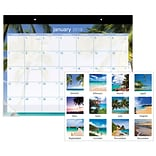 2018 AT-A-GLANCE® Tropical Escape Desk Pad, 12 Months, January Start, 22 x 17 (DMDTE2-32-18)