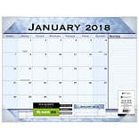 2018 AT-A-GLANCE® Slate Blue Monthly Desk Pad, 12 Months, January Start,  22 x 17 (89701-18)