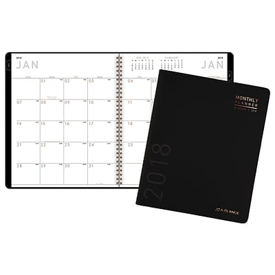 2018 AT-A-GLANCE® Contemporary Monthly Planner, 8-7/8 x 11, Black (70-260X-05-18)