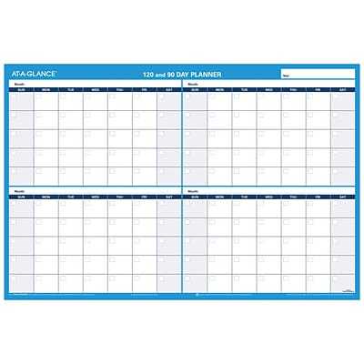 2018 AT-A-GLANCE® 90/120-Day Undated Horizontal Erasable Wall Calendar, Reversible, 2017, 36 x 24 (PM239-28)