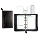 Day-Timer® Bonded Leather Planner Cover, Undated, 6 Ring, Portable Size, 3-3/4 x 6-3/4 (D41746)