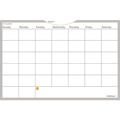 2018 AT-A-GLANCE® Dry-Erase Monthly Planning Surface, Self-Adhesive, 2017, 36 x 24 (AW6020-28)
