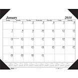 2018 House of Doolittle 22 x 17 Desk Pad Calendar Economy Black (124-02)