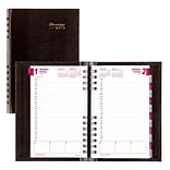 2018 Brownline® 8 x 5 CoilPro™ Hard Cover Daily Appointment Book / Planner, Black (CB634C.BLK)
