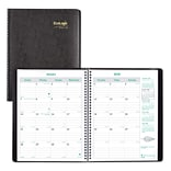 2018 Brownline® 11 x 8-1/2 EcoLogix® Monthly Planner, 14 Months, Recycled, Black (CB435W.BLK)