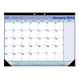 2018 Blueline® 21-1/4 x 16 Monthly Desk Pad Calendar, Blue and White (C181731)