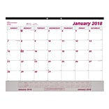 2018 Brownline® 22 x 17 Monthly Desk Pad Calendar with Clear Vinyl Sheet Holder (C1731V)