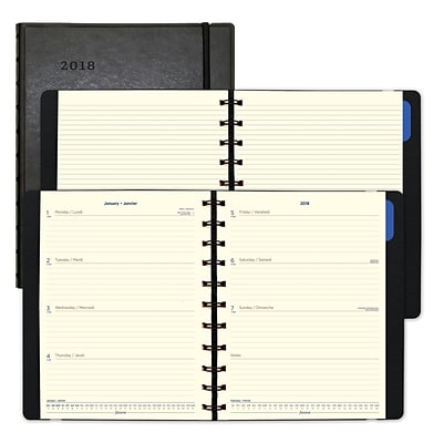 2018 Filofax® 10-7/8 x 8-1/2 Weekly Planner, Soft Cover, Black (C1811401)