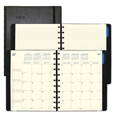 2018 Filofax® 10-7/8 x 8-1/2 Monthly Planner, 17 Months, Soft Cover, Black (C1811001)