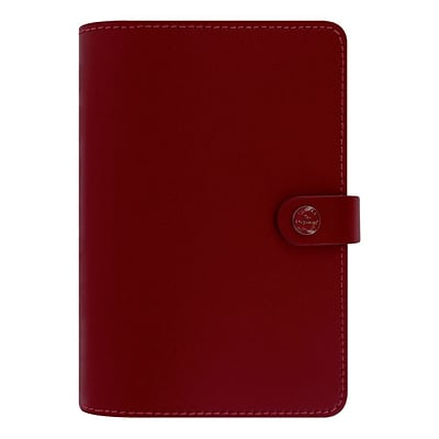 Filofax® 7-1/2 x 5-1/2 The Original Weekly Organizer,  Thick Leather, Personal Size, Retro Red (C022380)