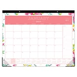 2018 Day Designer for Blue Sky 22 x 17 Monthly Desk Pad Calendar, Peyton White (103631)