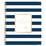 2018 Day Designer for Blue Sky 8 x 10 Weekly/Monthly Hardcover Planner, Navy Stripe (103625)