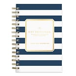 2018 Day Designer for Blue Sky 5 x 8 Daily/Monthly Planner, Navy Stripe (103623)