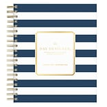 2018 Day Designer for Blue Sky 8 x 10 Daily/Monthly Planner, Navy Stripe (103622)