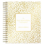 2018 Day Designer for Blue Sky 8 x 10 Daily/Monthly Planner, Gold Spotty (103621)