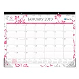 2018 Breast Cancer Awareness 22 x 17 Monthly Desk Pad Calendar, Alexandra (100015)