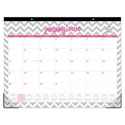 2018 Dabney Lee for Blue Sky 22 x 17 Monthly Desk Pad Calendar, Gray Ollie (102137)