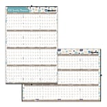 2018 Brownline® 24 x 36 Begonia Yearly Erasable Wall Calendar, Reversible, Vertical / Horizontal,