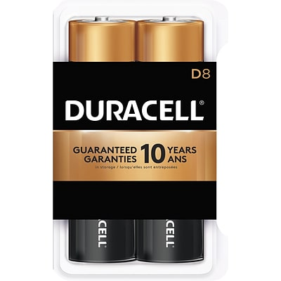 Duracell® Alkaline D Batteries, 8-Pack