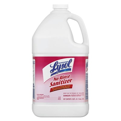 Lysol® All Purpose Cleaners, No Rinse Sanitizer, 1 Gallon, 4/Case