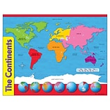 The Continents Learning Chart
