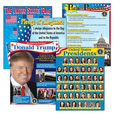 Trend Enterprises® U.S. Presidents Learning Chart Combo Pack, Social Studies, 6/Pack