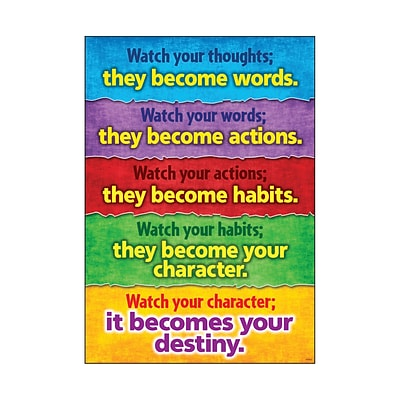Trend® Educational Classroom Posters, Watch your thoughts…