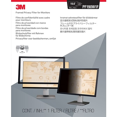 3M™ Framed Privacy Filter for 19 Widescreen Monitor (16:10)