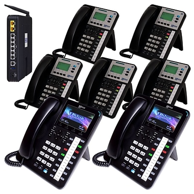 XBlue® X504235 Seven-Phone System Bundle