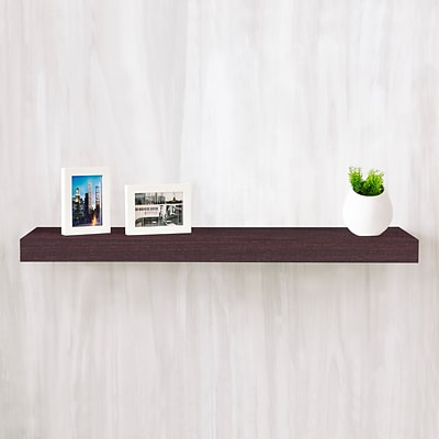 Way Basics 35.4W x 2H Floating Wall Shelf made from zBoard Eco Reycled Paperboard, Espresso