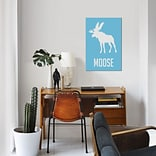 East Urban Home Moose III Graphic Art Print on Canvas; 12 H x 8 W x 0.75 D