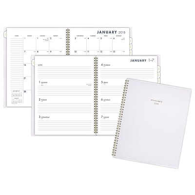 2018 AT-A-GLANCE® Color Bar Weekly/Monthly Planner, 12 Months, January Start, 8-1/2 x 11, White (1078-905-16-18)