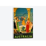 East Urban Home Australia III Vintage Advertisement on Canvas; 12 H x 8 W x 0.75 D