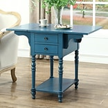 August Grove Jaune End Table; Blue
