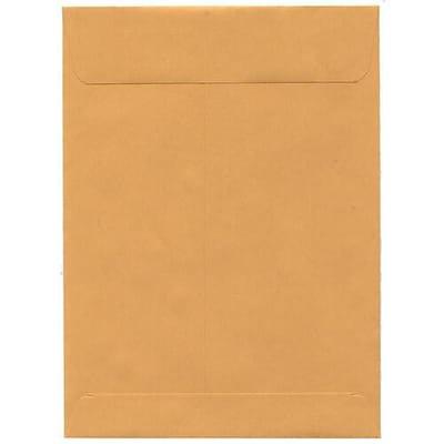 JAM Paper® 7.5 x 10.5 Open End Envelopes, Brown Kraft, 50/pack (29215i)