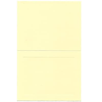 JAM Paper® Blank Foldover Cards, A2 size, 4 3/8 x 5 7/16, Ivory Panel, 100/pack (309914)