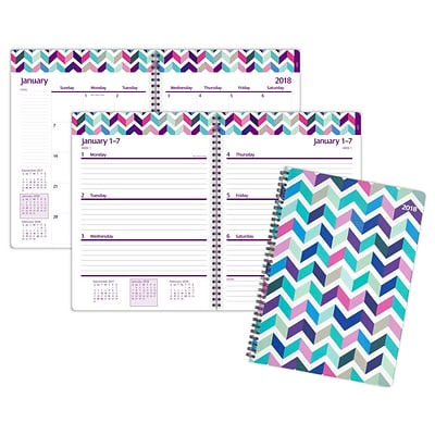 2018 Staples® 8 x 11 Weekly/Monthly Planner, Multicolor (26559-18)