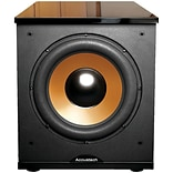 BIC America™ Acoustech H-100II 12 500 W Frontfiring Powered Subwoofer with Black Lacquer Top