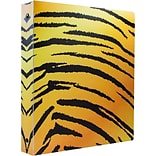 JAM Paper® Animal Print Flexible 1 Inch Binder, Tiger Design 3 Ring Binder, Sold Individually (37393