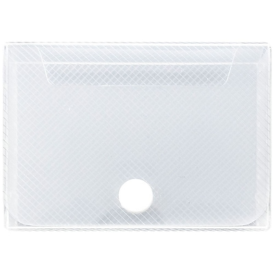JAM Paper® Large Business Card Holder, 2.25 x 3.25 x 1, Clear, Sold Individually (245232763)