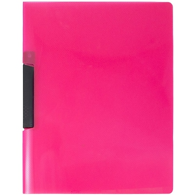JAM Paper® Swing Lock Report Covers, Pink, Sold Individually (22532816)