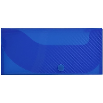 JAM Paper® Pencil Cases, Snap Button Closure, Blue, Sold Individually (166532738)