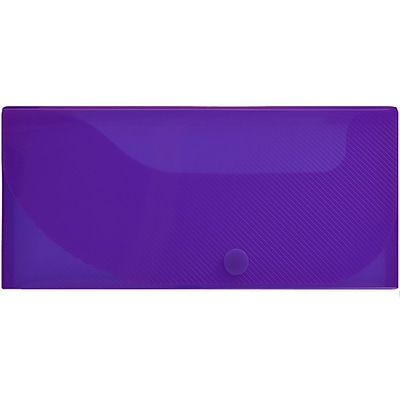 JAM Paper® Pencil Cases, Snap Button Closure, Purple, Sold Individually (166532743)