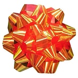 JAM Paper® Gift Bows, Small, 3.5 Diameter, Metallic Red, 12/pack (283613287)